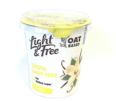 Light and  Dairy Free Oat Vanilla Yogurt