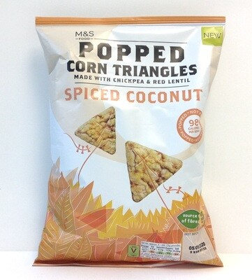 Marks and Spencer Popped Corn Triangles - Spiced Coconut