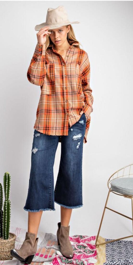 plaid shirt rust