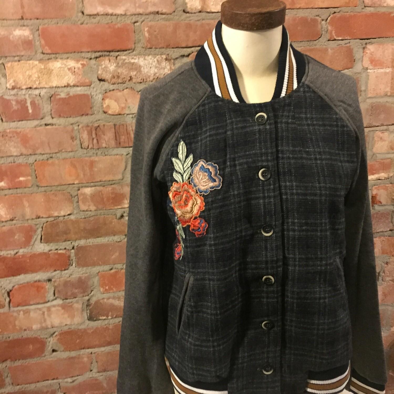 AAC- Hem & Thread plaid embroidered jacket
