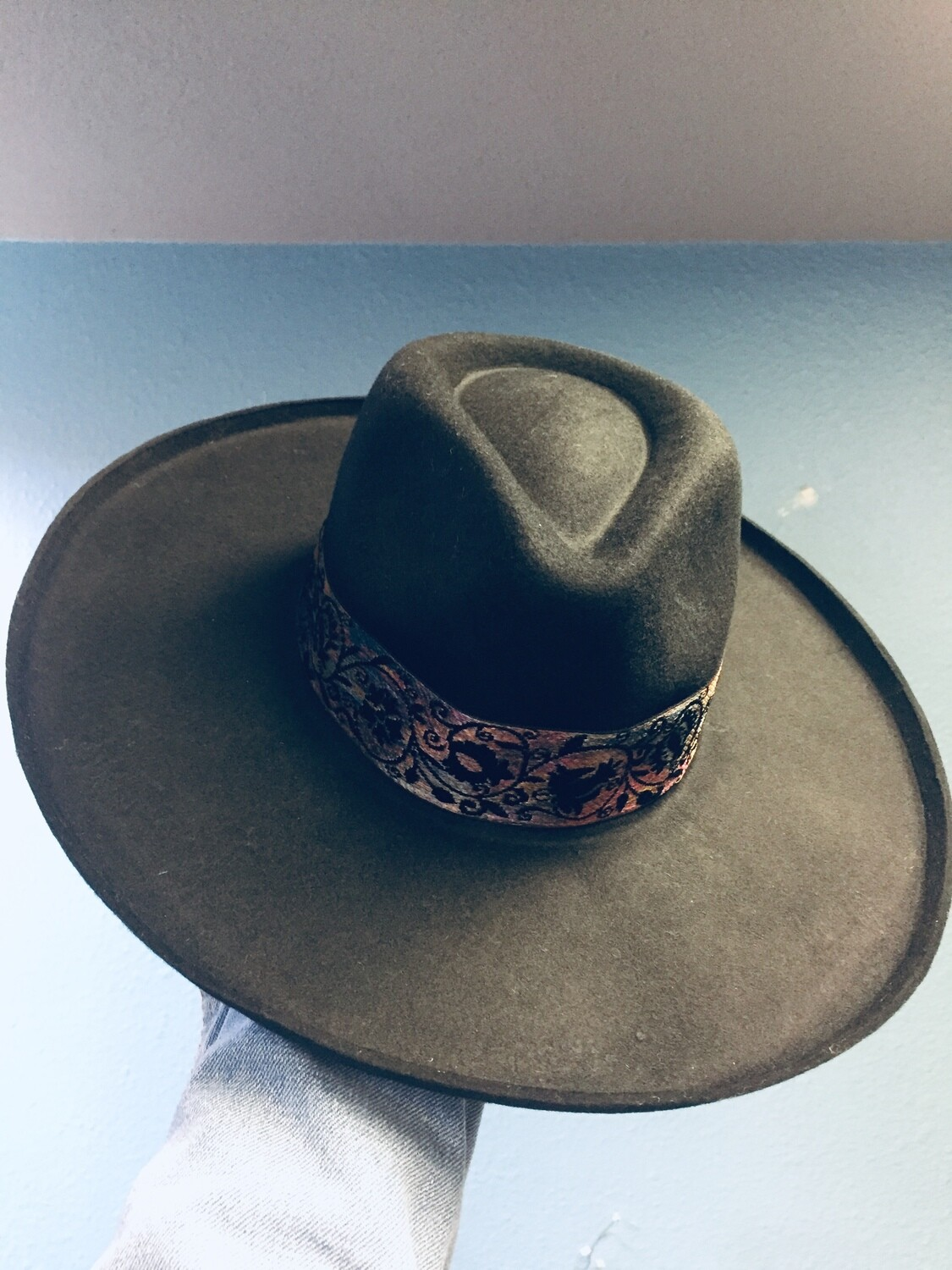 "AAC-""Cora"" Flicked Edge Wool Panama Hat"