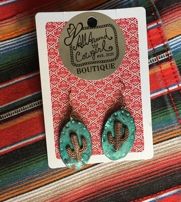 AAC- $15.00 Cactus Earrings