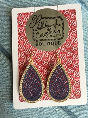 AAC-$15.00 Earrings Tear Drop