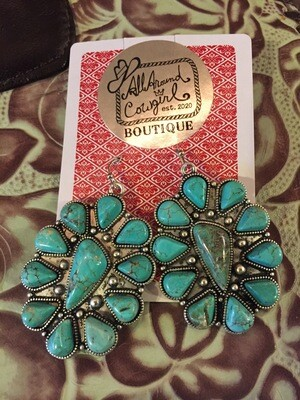 AAC- $44.00 Turquoise earrings