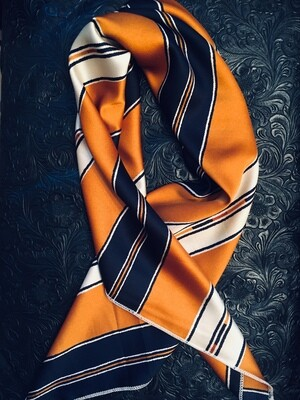 AAC-Navy and Mustard Striped Neckerchief-Scarf