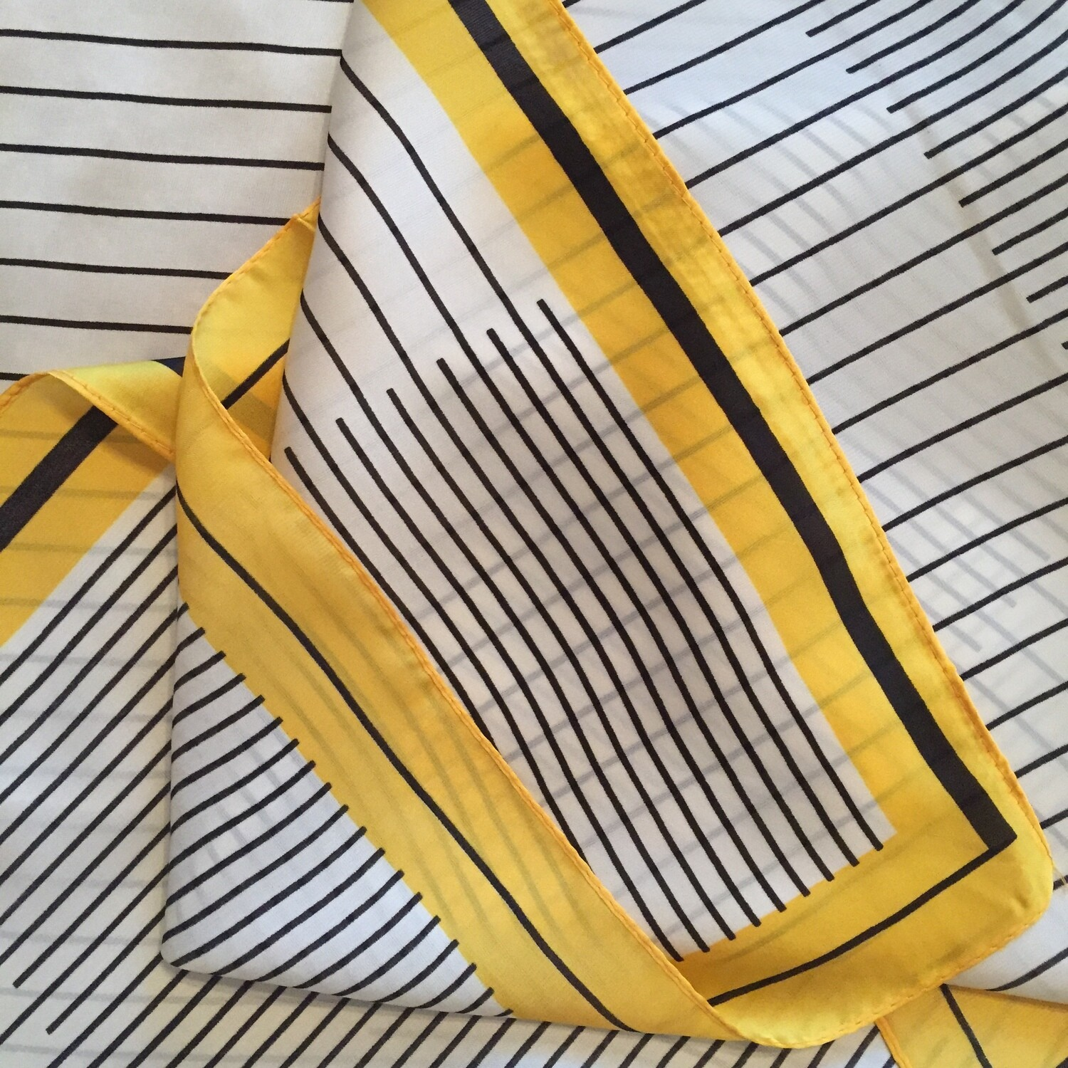 AAC- Yellow and Black Geometric Lines Neckerchief
