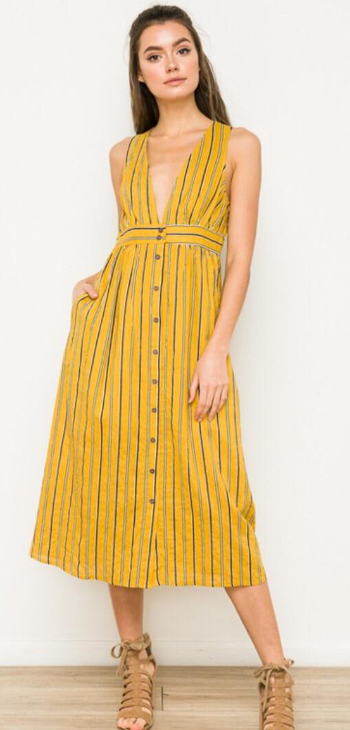 AAC-Gold Stripe Dress