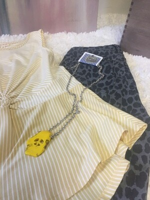 AAC-Boho Yellow Necklace