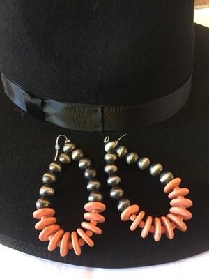Big peach synthetic &Navajo pearl