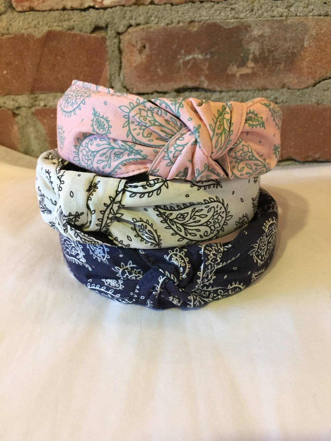 AAC-Paisley Print Head Band