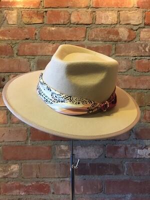 """AAC- """"Arielle"""" Wool Felt Panama Hat w/ Neck Scarf"""