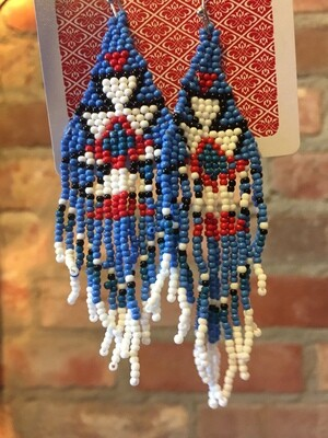 AAC - $17.99 Beaded Boho Drop Earrings