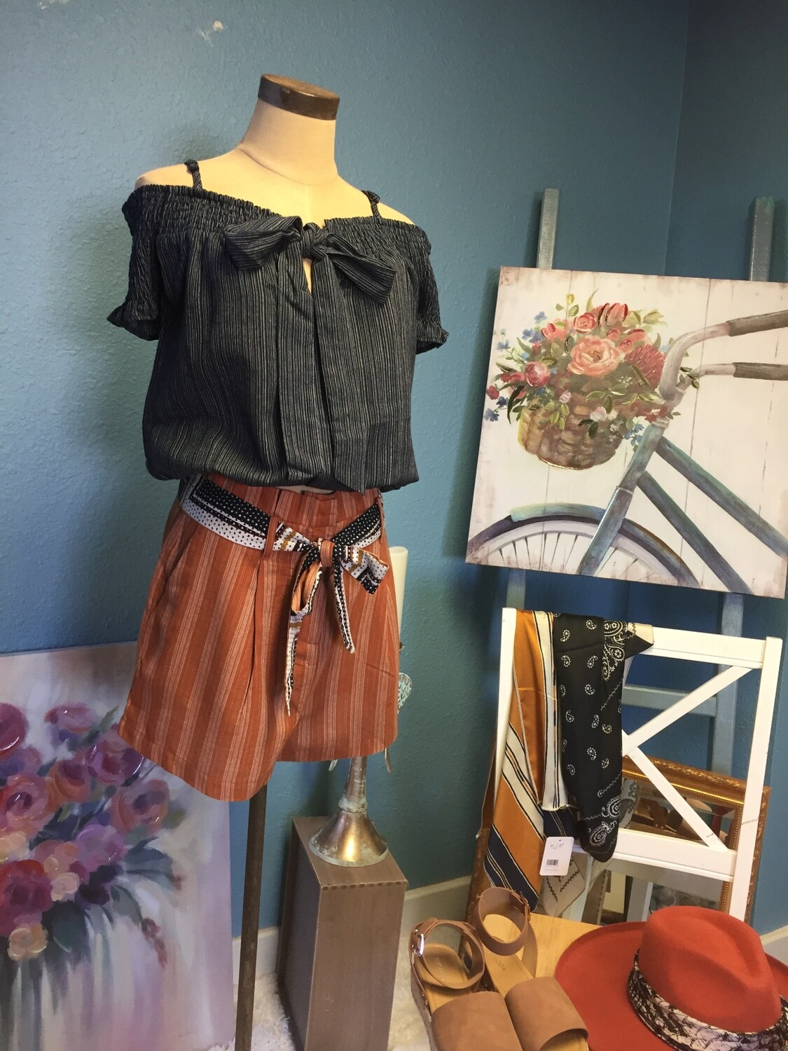 AAC - $33.99 Rust Striped Shorts