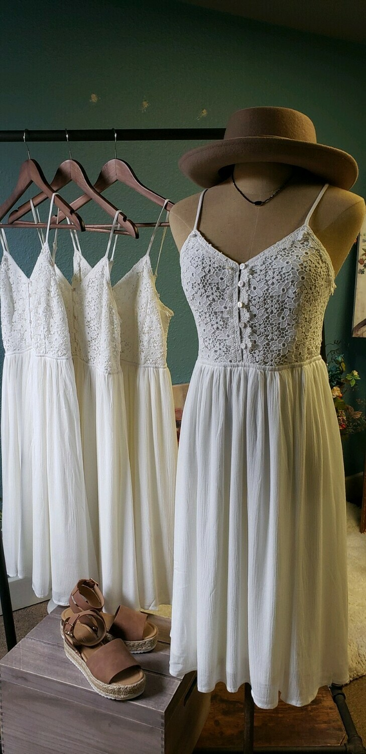 "AAC - ""The Julie"" Little White Summer Dress"