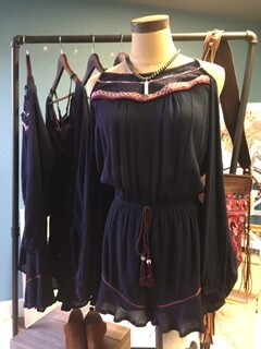AAC -  Cold Shoulder Romper with Embroidery