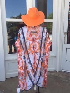 AAC - Orange Wide Brim Straw Hat