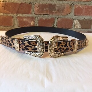 AAC - Cheetah Print Double Buckle - Gold Buckle
