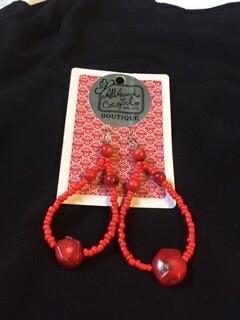 AAC-$24.00 Coral Earrings