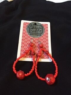 AAC-$24.00 Coral Earrings