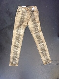AAC-Judy Blue Mid-Rise Snake Print Jeans