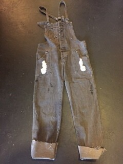 AAC - $55.99  Distressed Denim Overalls