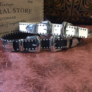 AAC - Double Buckle Studded Belt