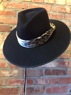 """AAC- """"Rancher"""" wool felt hat with neck scarf"""