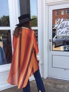 AAC - Orange Serape Kimono