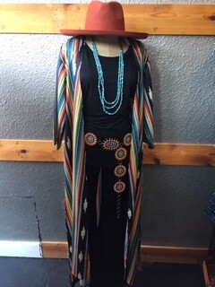 AAC - Black Aztec Kimono