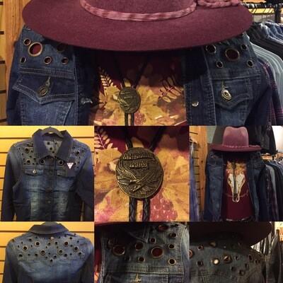 AAC-Ladies Denim Jacket with Grommets