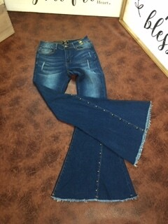 AAC - Denim & Studs - Bell Bottoms