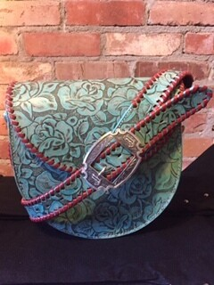 AAC - Saddle Bag Style Purse - Turquoise Color