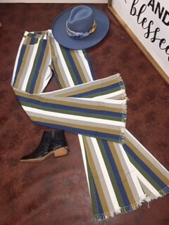 AAC - Add Some Stripes - Bell Bottom Jeans