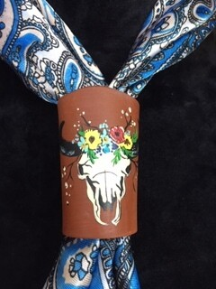 AAC - Scarf Slide - Skull & Flowers