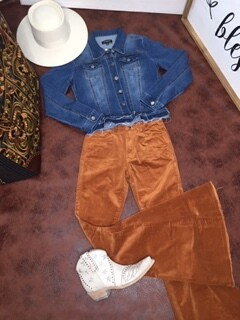 AAC - Smooth Moves Bells - Camel Corduroy Pants