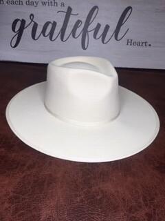 AAC - Ultra White Wool Felt Rancher