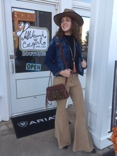 AAC - Mocha Corduroy Bell Bottom Pants