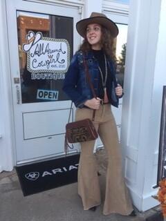 AAC - Mocha Corduroy Bell Bottom Pants