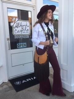 AAC - Cranberry Corduroy Bell Bottom Pants