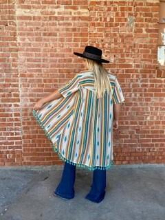 AAC - Ivory Aztec Serape Kimono