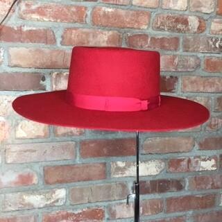 AAC - Red Gambler Style Hat Black Paint Splatter