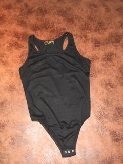 AAC - Basic Black Racer Back Bodysuit