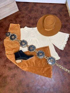 AAC - Leopard Cross Concho Belt