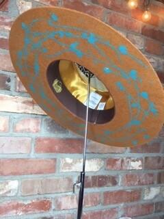 AAC - Camel W Turquoise Gambler Style Felt Hat
