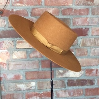 AAC - Gambler Style Camel Color 100% Wool Felt Hat