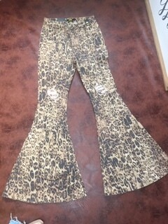 AAC - A Shiny Leopard Went By - High Waist Jeans