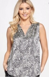 AAC - No Sleeves Needed - Animal Print Top