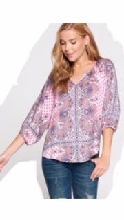 AAC - Pretty in Paisley 3/4 sleeve top