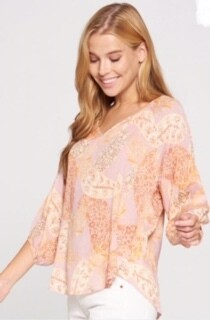 AAC - Boho Cowgirl - 3/4 Sleeve Top