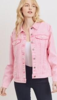 AAC - Happy In My Pink Denim Jacket